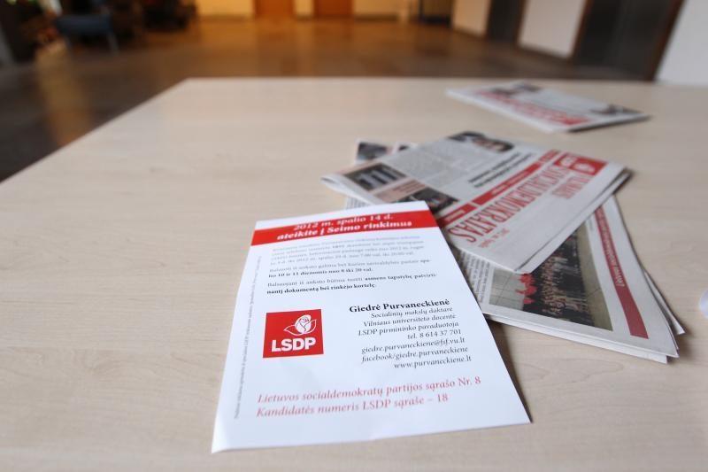 Rinkimų apylinkėje Saulėtekyje – agitaciniai leidiniai (papildyta)
