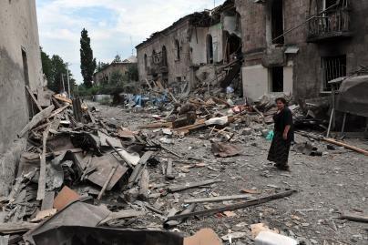 M.Saakašvilis abejoja, ar rusų kariai greitai pasitrauks