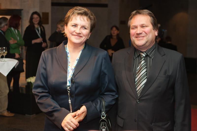 Kauno ponia spindėjo Vilniaus elito vakarėlyje