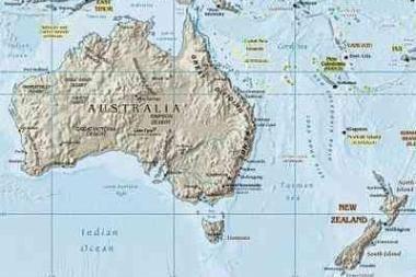 Po drebėjimo Naujoji Zelandija pasislinko arčiau Australijos