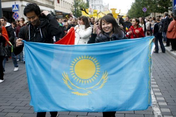 Gedimino prospektą Vilniuje užtvindė studentų eitynės