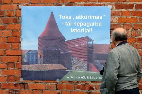 Nuo Kauno pilies nukelta kepurė, atstatymo darbai baigsis vasarą
