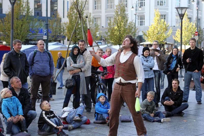 Gatvės teatrų festivalyje netrūksta linksmybių