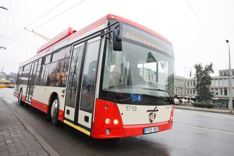 Į gatves išrieda lietuviški troleibusai