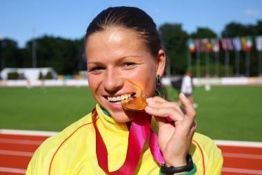 Bėgikė L.Grinčikaitė iškovojo auksą