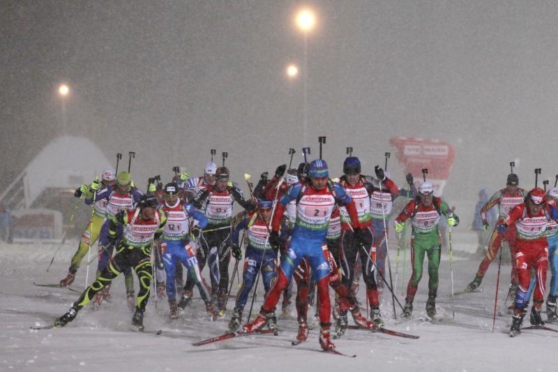 Pasaulio biatlono taurės varžybose visas auksas atiteko vokietėms