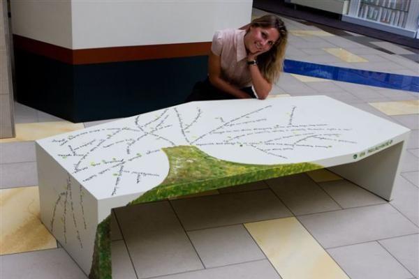 Mados atstovai pristatė ekologijos tema dekoruotus suoliukus