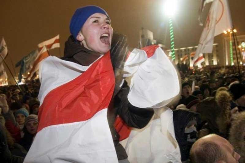 Baltarusijoje surengta tūkstantinė demonstracija