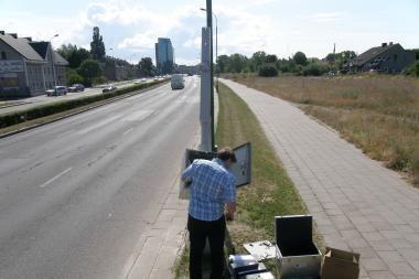 Minijos gatvėje jau veikia greičio matuoklis