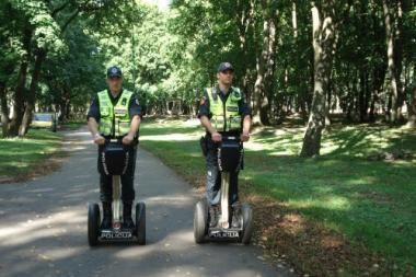 Klaipėdos patruliai išbando riedžius