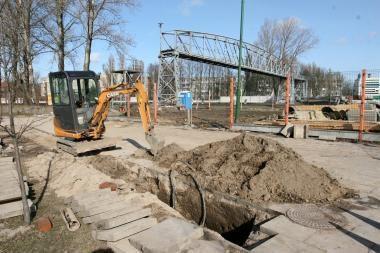 Tilto statytojai dalį Klaipėdos paliko be elektros