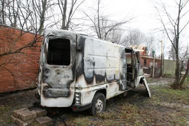Uostamiestyje degė autobusiukai