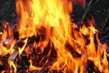 Kretingoje sudegė vyras