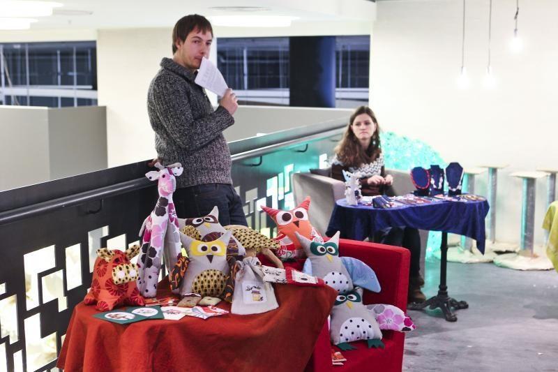 Kūrybinių smulkmenų mugėje – originalios Kalėdų dovanos