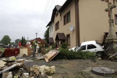 Čekijoje per naują potvynį dingo trys žmonės, 200 evakuota