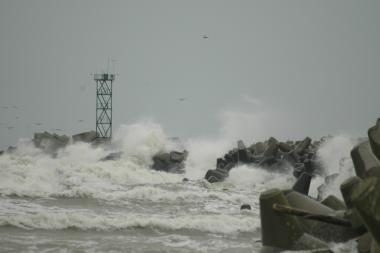 Pajūryje laikysis vėjuoti orai