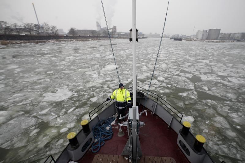 Dėl šalčių Dunojuje nutraukta laivyba