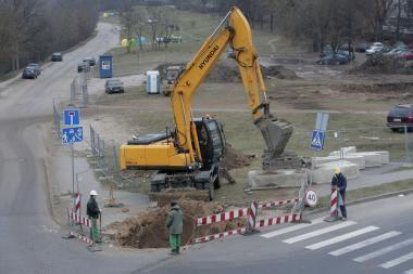 Statybininkai Klaipėdoje elektrą pradangino keturiskart