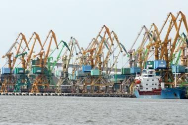 Klaipėdos uosto krova sumažėjo beveik 18 proc.