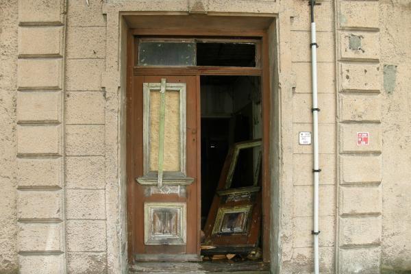Klaipėdos centre degė namas