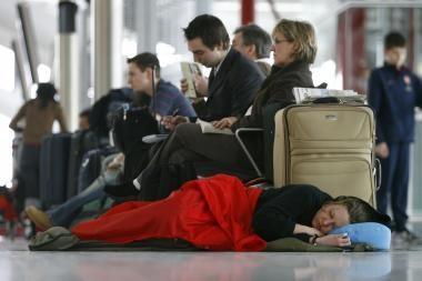 Argentiniečių šeima apsigyveno Brazilijos oro uoste