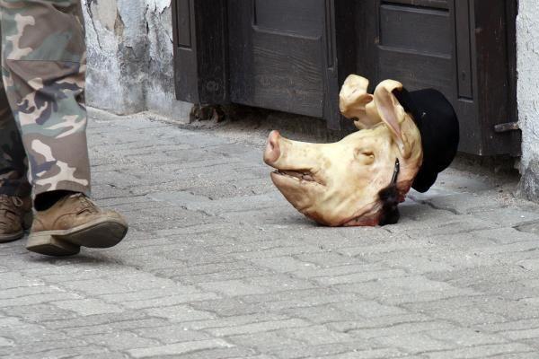 Pamaldų metu Kauno sinagogoje numesta kiaulės galva (papildyta)
