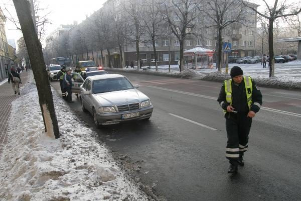 Klaipėdos centre partrenkta benamė mirė (atnaujinta)