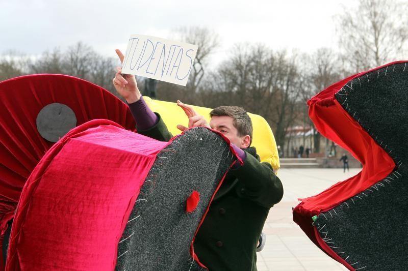 Vilniaus gatvėse – studentų kova už savo teises