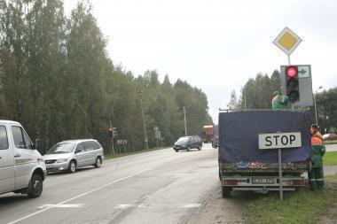 Šviesoforas pavojingoje Kauno sankryžoje jau veikia