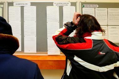 Pirmą kartą darbo vietų užregistruota daugiau nei bedarbių