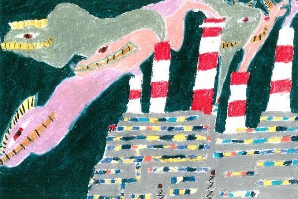 Moksleivių piešiniuose – gamtos turtai ir sopuliai