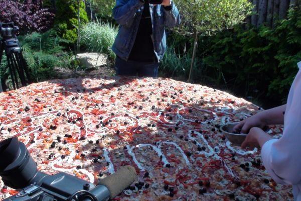 Palangoje iškepta rekordinio dydžio pica