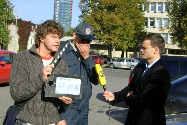 TV3 sporto žurnalistas M.Rainys nusifilmavo seriale
