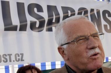 Čekijos prezidentas Klausas žada pasirašyti Lisabonos sutartį