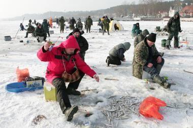 Žvejai laukia gero savaitgalio