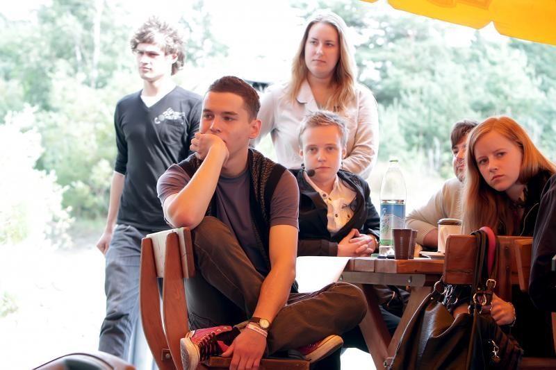 Švęsti Tarptautinės jaunimo dienos - prie jūros