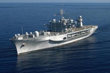 """Į Klaipėdą atplaukia JAV karo laivas """"Mount Whitney"""""""
