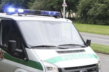 Vairuotojas partrenkė nepilnametę ir rėžėsi į stulpą