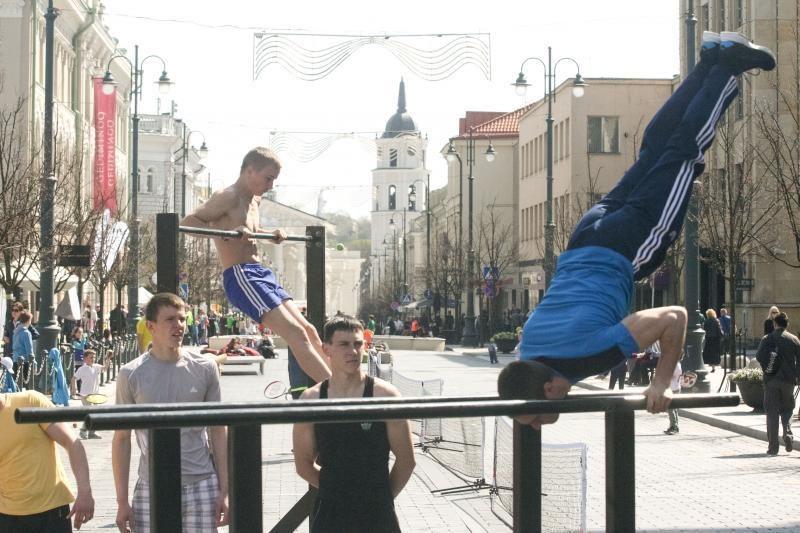 Vilniečiai kviečiami sportuoti sostinės centre