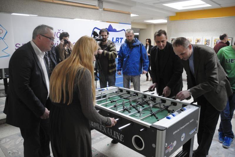 LRT darbuotojams - nemokamos Lietuvos stalo futbolo rinktinės pamokos