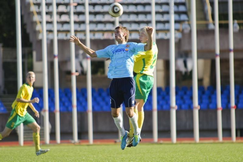 Dvejuose Lietuvos futbolo A lygos mačuose šeštadienį - 10 įvarčių