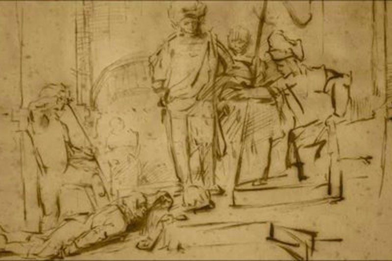 JAV iš viešbučio pavogtas Rembrandto piešinys