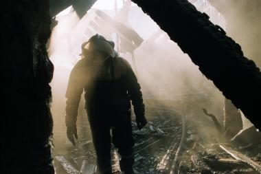 Vilniuje per gaisrą apleistame mediniame name žuvo žmogus