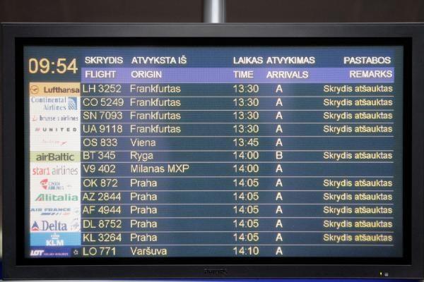 Skrydžiai virš Lietuvos nevyksta ir šeštadienį (papildyta 15 val.)