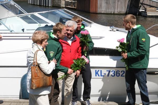 Baltijos jūrą baidarėmis perplaukę klaipėdiečiai grįžo namo