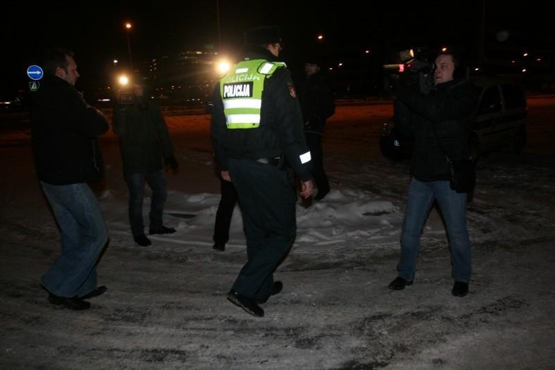 Policija baus protesto akcijoje dalyvavusius taksistus