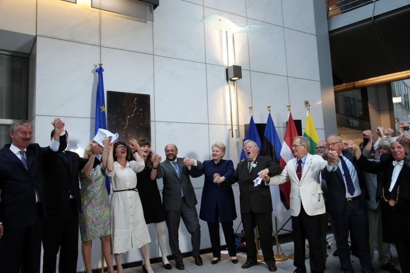Baltijos kelias įamžintas Europos parlamente