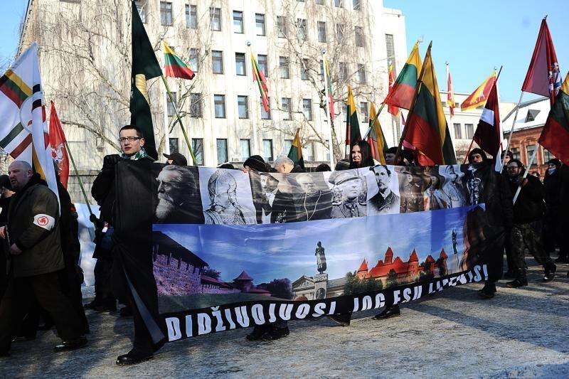 "Laisvės alėjoje skambėjo šūkiai ""Lietuva – lietuviams!"