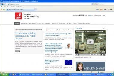 Įsilaužta į socialdemokratų internetinę svetainę