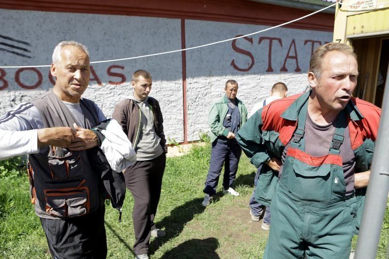 Dviračių take – atlyginimų nesulaukiančių darbininkų streikas